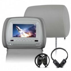 EONON C1067 COPPIA MONITOR POGGIATESTA DVD MP3 DIVX GIOCHI CUFFIE USB