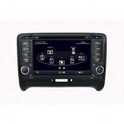 AUTORADIO SPECIFICA AUDI TT BLUETOOTH GPS MP3 DIVX SD USB DVD CD