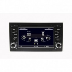 AUTORADIO SPECIFICA AUDI A4 GPS BLUETOOTH USB SD MP3 MP4 DIVX DVD CD
