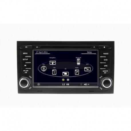 AUTORADIO SPECIFICA AUDI A4 GPS BLUETOOTH USB SD MP3 MP4 DIVX DVD CD