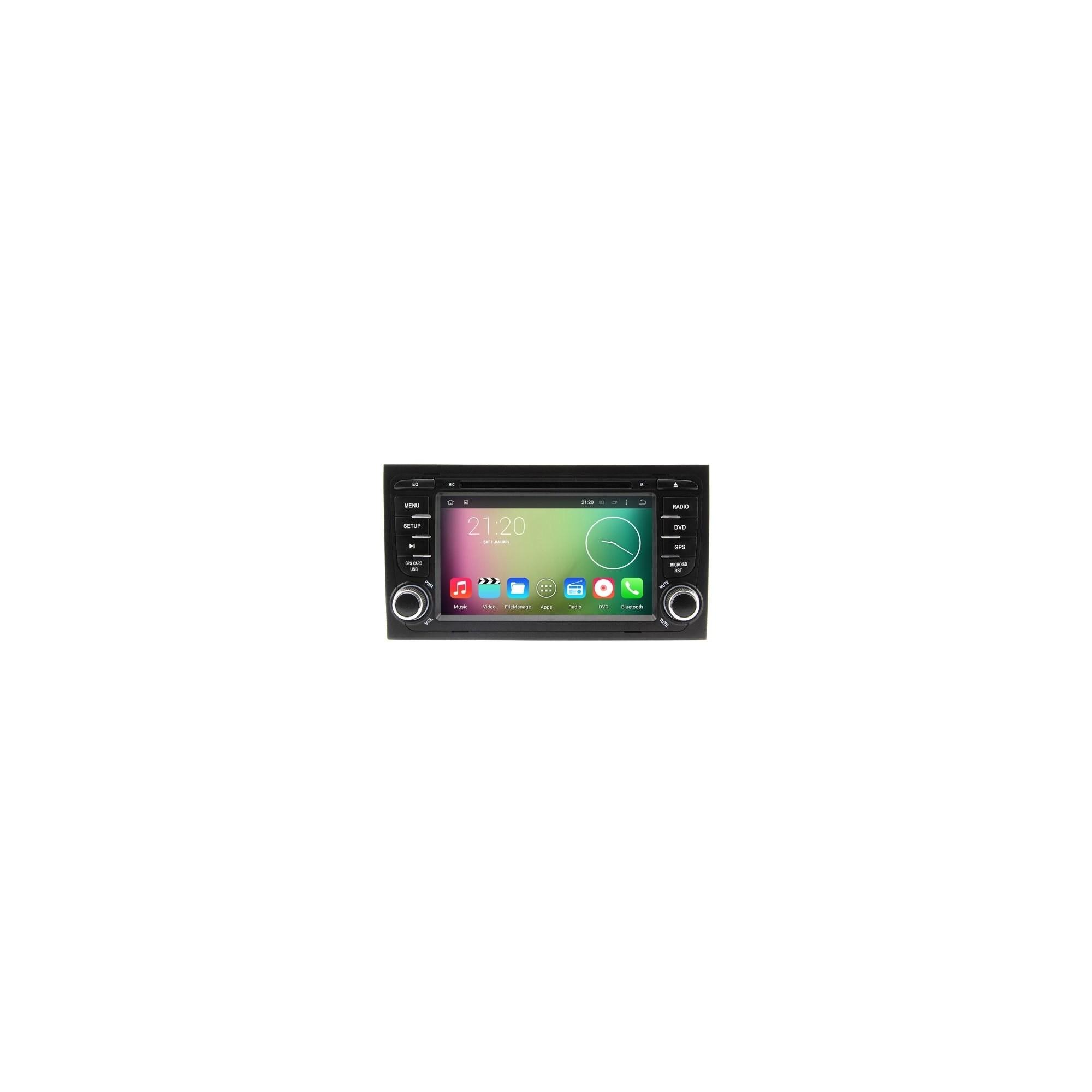 AUTORADIO SPECIFICA AUDI A4 ANDROID QUADCORE WIFI 3G GPS BLUETOOTH USB -  EXPRESSTECH STORE