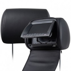 COPPIA MONITOR POGGIATESTA NERI 7 INCH DVD PLAYER USB SD MP3 DIVX SONY