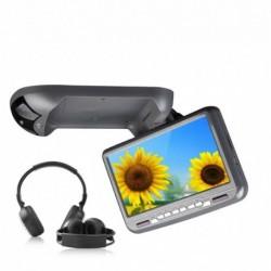 MONITOR FLIP DOWN EONON C0801Z USB SD MP3 DIVX DVD GRIGIO 2 X CUFFIE +