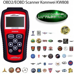 Lettore codici universale diagnostico KW808 diagnosi OBD2 scanner strumento analisi OBDII
