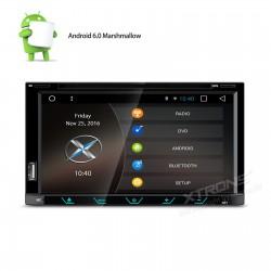 AUTORADIO DOPPIO DIN XTRONS BLUETOOTH GPS MP3 DVX USB ANDROID MARSHMALLOW 6.0 QUADCORE 16 GB WIFI 3 G DAB OBD