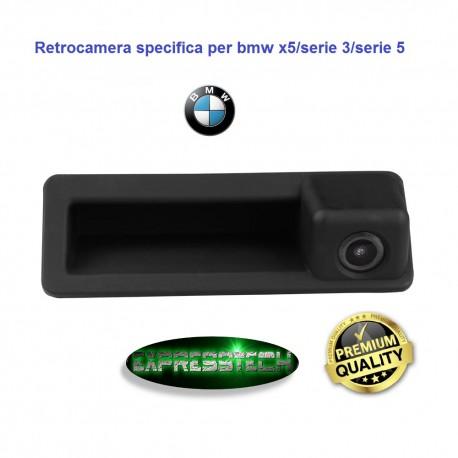 RETROCAMERA PARCHEGGIO POSTERIORE 170° BMW SERIE 5,3,X5 E90 E9 VISIONE NOTTURNA MANIGLIA