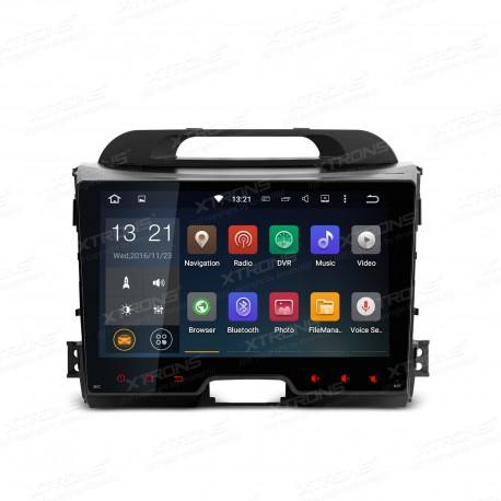 """AUTORADIO 2 DIN SPECIFICA 9 """"per Kia Sportage Series 3 con Sistema operativo Android 5.1 Lollipop  a 64-bit quad core"""