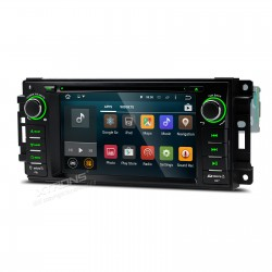"AUTORADIO 2 DIN SPECIFICA per Jeep / DODGE / Chrysler   6.95""Android 5.1 Lollipop 64-bit Operating System Quad Core"