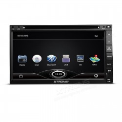 "AUTORADIO 2 DIN XTRONS UNIVERSALE TD693G   6,95"" TFT digitale 1080P Video Doppio Din GPS Navigator Double Din DVD Player"