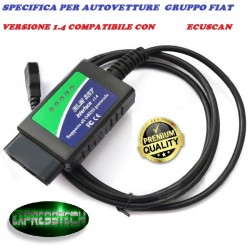 MULTIECUSCAN FIAT ALFA ELM DIAGNOSI UNIVERSALE 327 1.4 MODIFICATA LINEA CAN OBD2