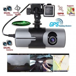 Nuova DVR Camera-Dash Cam Video Recorder Dual Lens con GPS Camera HD-G-Sensor w/ Night R2