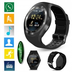 Smartwatch Y1 slot scheda Sim e Bluetooth Fotocamera - orologio - telefono - pedometro