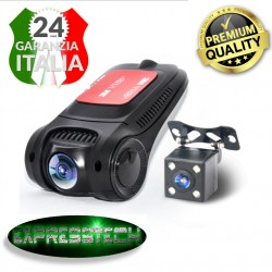 Dash Cam/Dvr - Full HD 1080p 5mpx - Visione notturna - Motion detection - WI-FI  + retrocamera