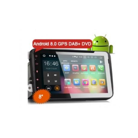 """AUTORADIO 2 DIN SPECIFICA per VW 8"""" Android 8.0 Oreo GOLF TIGUAN PASSAT ECC"""