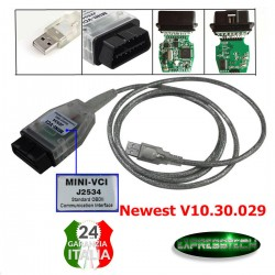 Mini VCI J2534 Cavo diagnostico OBD2 per Toyota Lexus Scion TIS Techstream