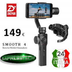 Zhiyun Smooth 4 Black Gimbal 3 assi stabilizzatore Smartphone