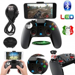 Gamepad Bluetooth Wireless Controller di Gioco con vibrazione per smartphone-tablet Androiod e iOS- PC - Smart Tv