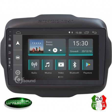AUTORADIO JEEP RENEGADE ANDROID QUADCORE FULLTOUCH WIFI GPS BLUETOOTH MIRROR LIINK