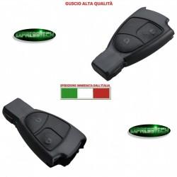 Cover Guscio Chiave Telecomando 2 Tasti per Mercedes C E CLS CLK CL SLK Nera