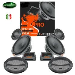 Hertz Linea Mille Pro MPK 1650.3 Kit 4 Casse Altoparlanti Due Vie 250W +Griglie