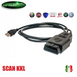 CAVO INTERFACCIA OBD2 VAG KKL 409.1 USB FTDI VW AUDI SEAT SKODA DIAGNOSI ERRORE