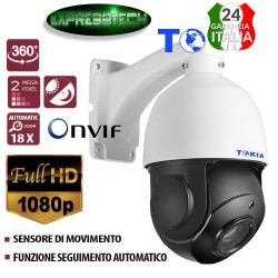 DOME CAMERA PTZ AUTOTRACKING 2 MPX 1080P FULL HD INFRAROSSI SENSORE DI MOVIMENTO