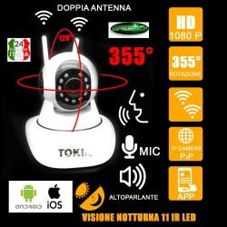 TELECAMERA IP CAMERA HD 720P WIRELESS LED IR LAN MOTORIZZATA WIFI CONTROLLO APP