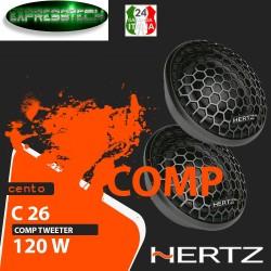 Hertz Serie Cento C 26 Coppia Altoparlanti Da 26mm 120W Tweeter Neodimio Tetolon