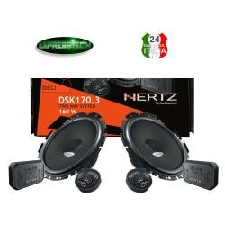 Hertz DSK 170.3 Kit 4 Casse Auto Altoparlanti 2Vie Set 6 Pezzi 170mm Linea Dieci