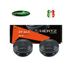 Hertz DT 24.3 Coppia Altoparlanti da 24 mm 80 W Tweeter + Crossover + Supporti