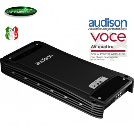Audison AV Quattro Amplificatore per Auto 4 Canali 4x120W RMS Linea VOCE
