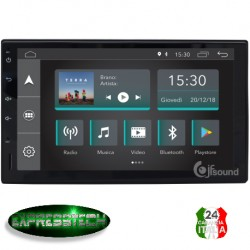 "Autoradio 7"" Android 6.0 quad core 2din lettore DVD GPS Bluetooth USB UNIVERSALE"
